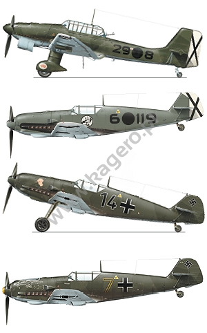 Luftwaffe's Baptism of Fire: Bf 109 110 He 111 Ju 87 (Topcolors 30) FREE DECALS